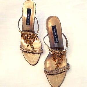 "Steve Madden ""Steven"" Gold high heels"